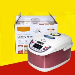 Smart Rice Cooker Thick Double Jet Aluminum Alloy Appliance 900W 5L as the picture