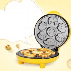 Home cake machine cartoon mini children bread machine double-sided heating baking breakfast machine as the picture