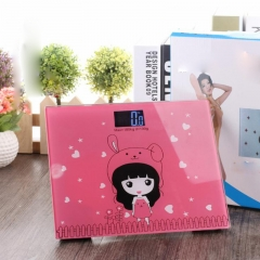 Creative fashion cartoon human scale electronic scale mini electronic scale random color one size