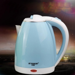 Electric kettle, 304 food grade stainless steel kettle, 2L, automatic boiling random color