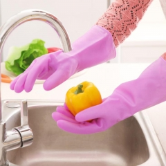 Clean latex gloves, reusable waterproof rubber gloves kitchen dishwashing laundry room cleaning. random color one size