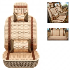 Car ice silk seat cover, universal luxury car seat cover, breathable seat cover complete set