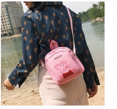 Girls zipper backpack college wind bag travel backpack Light blue as picture