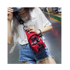 Girl bag 2018 new fashion trend shoulder Messenger bag red as picture