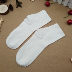 Men's solid color socks white as picture as picture