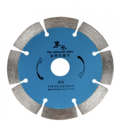 Diamond blade universal cutting disc for stone, brick and concrete angle grinders. as picture 114 x 20 mm
