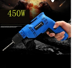 Generic  10mm 450W Multifunctional Electric Drill Electric Drill Adjustable Speed Power Tool as picture as picture