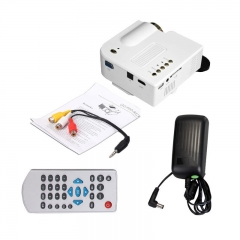 LED Projector Cinema Theater Support PC&Laptop With VGA/USB/SD/AV/HDMI Input Mini Pocket Beamer white normal