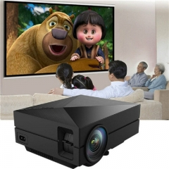 Mini LCD LED Projector 1000LM 800 x 480 Pixels Supports 1080P HD Projection Home Theater Projector black normal