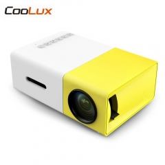 Mini Projector 400-600LM 1080p Video 320 x 240 Pixel Media LED Lamp Player Best Home Projector yellow normal