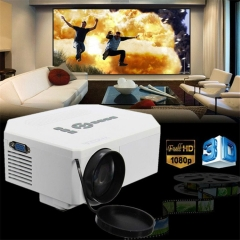 1200lumens HD 1080P Home Cinema 3D HDMI USB Video Game LED LCD Mini Projector White white normal