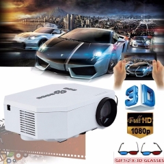 1200lumens HD 1080P Home Cinema 3D HDMI USB Video Game LED LCD Mini Projector white normal