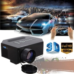 1200lumens HD 1080P Home Cinema 3D HDMI USB Video Game LED LCD Mini Projector black normal