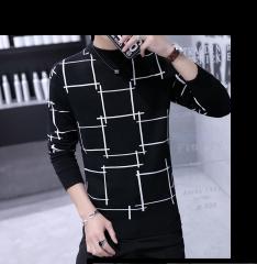 Knitted sweater / sweater 2018 fashion youth fashion long sleeve autumn leisure training youth black m