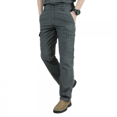 Quick drying casual pants, men's military trousers, men's lightweight waterproof trousers. gray m