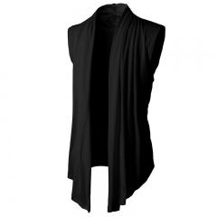 New style men's sleeveless knit knit cardigan black m