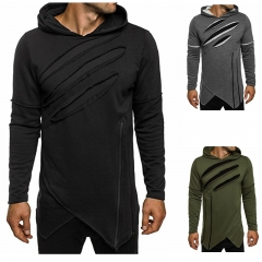 New men's sweater fashion trend leisure jacket personality men's clothing black m
