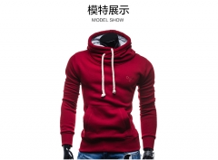 2018 new spring style high necked long sleeved Hooded Sweater red m