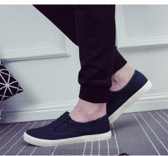 2018 New style Men Canvas Shoes  Lazy Casual Shoes Sneakers Sport Leisure shoes Fashion Men's Shoes blue 42