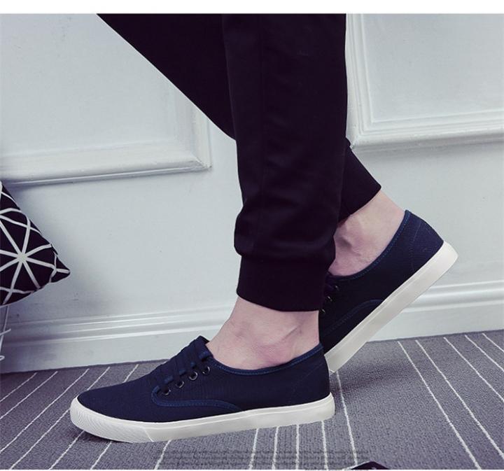 Men shoes Men Canvas Shoes  Lazy Casual Shoes Sneakers Sport Leisure shoes Fashion Men's Shoes blue 42
