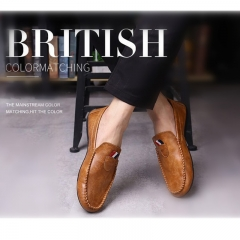 Taotao fashion- Mens Shoes Casual Fashion Peas Shoes Leatherwear light brown 40