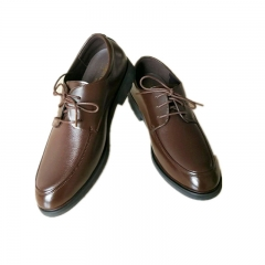 Men's Leather Shoes Business Leather Shoes Top Layer Cowhide New pattern Luxury Brand Men Shoes brown 39 cowhide