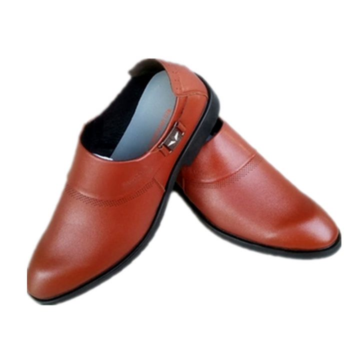 e02004a408a Men s Leather Shoes Business Leather Shoes Top Layer Cowhide brown 41  Cowhide