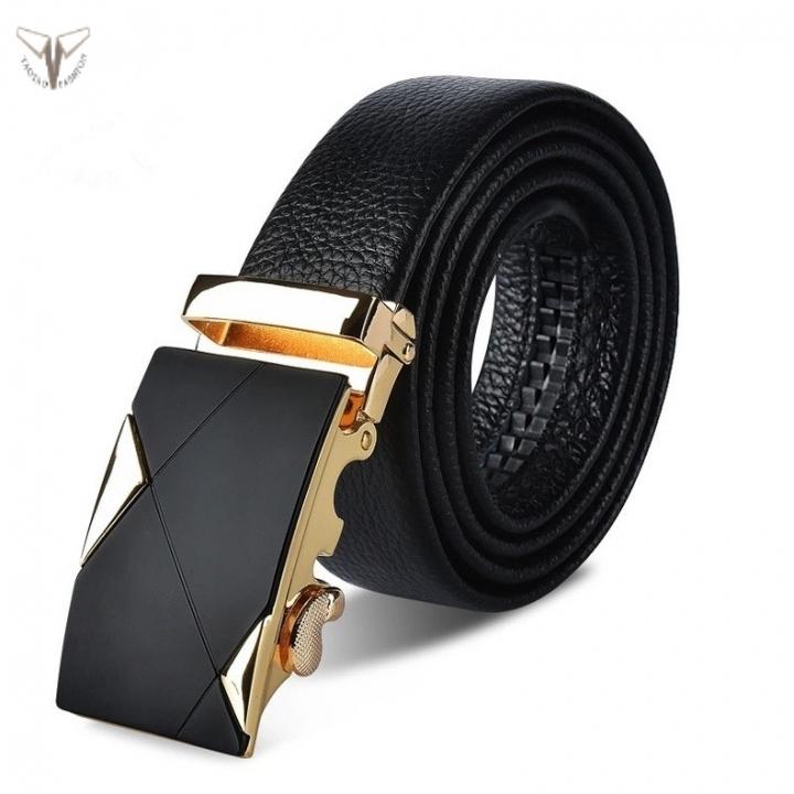 Taotao Fashion-Men Leather Belt Cowhide Leather Belt Gift box packaging blackTT-2-120cm-47in 120-130cm