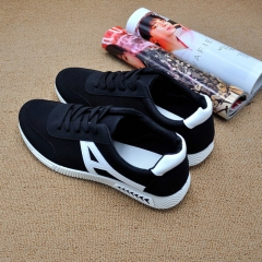 Men shoes Men Boys Casual Sneakers Sports Running Breathable Flat Solid Lace-up Shoes black 39