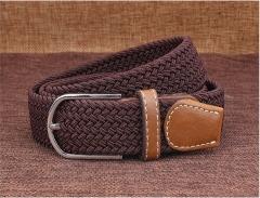 Taotao Fashion-Men's 2018 New Belts, Outdoor Leisure Woven CFanvas Trousers, Youth Trend Caffeine 110cm
