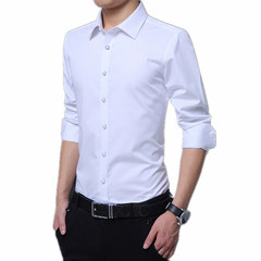 Taotao Fashion-Office Men's Shirts High Quality Men's Fashion Men's Wear white l