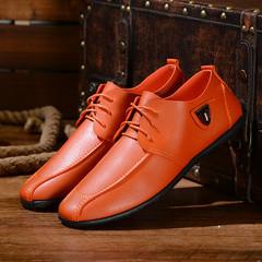 Men shoes Taotao fashion-New Men's Shoes Bandage Leisure Business Men's Shoes orange 39