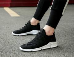 New fashion Men's shoes Ncasual wear canvas shoes Men's shoes Board shoes Breathable shoes black 42