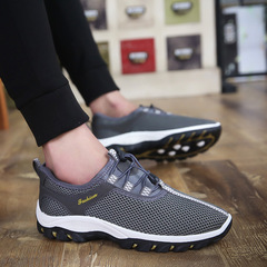Men shoes Taotao fashion-New Summer Air-permeable Men's Shoes Leisure Mesh Sports Running Net Shoes gray 39