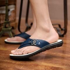 Taotao fashion-Men's Slippers Summer Men's Flip-flops Fashion Slip-proof Men's Slippers blue 40