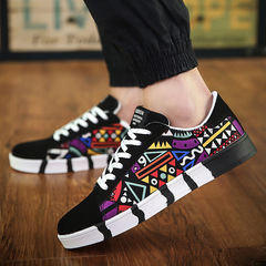 Men shoes Taotao fashion-New Men's Leisure Shoes Tidal Shoes Canvas Shoes Sports Board Shoes black 39