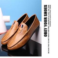 Taotao fashion- Men Shoes Casual Fashion Peas Shoes Leatherwear light brown 40