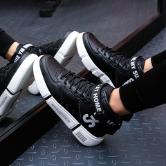 Taotao fashion-High-top shoes Men's sports and leisure shoes Fashion Men's shoes black 39
