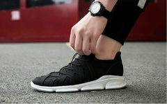 New fashion Men's shoes Ncasual wear canvas shoes Men's shoes Board shoes Breathable shoes black 40