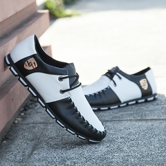Taotao fashion- Mens Shoes Casual Fashion Peas Shoes Leatherwear black and white 41