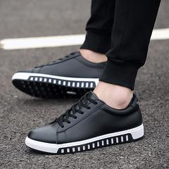 Men shoes TaoTao fashion-Men's lace-up casual leather shoes fashion anti-skid men shoes black 39