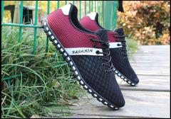 Men shoes Taotao fashion-Men's large size casual shoes red 39
