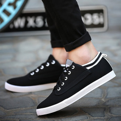 Men's shoes Student sneakers Canvas sneakers black 39