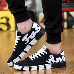 Men's canvas shoes sandals breathable men's shoes black 39