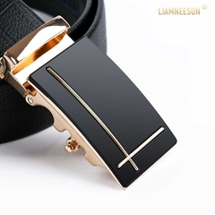 Taotao Fashion-Men Leather Belt  Business Fashion Belt black 130CM