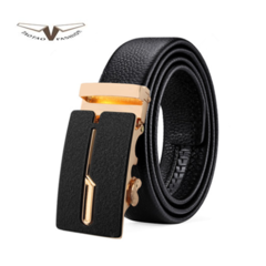 Taotao fashion-Men's Belt New Men's Sanded Belt Golden 130cm