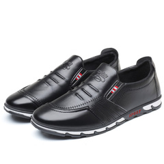 TAOTAO FASHION Men's Shoes casual leather shoes young men's waterproof driving shoes black 39