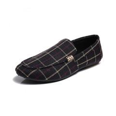 TAOTAO FASHION men shoes Men Leisure Canvas British style Shoes Driving Shoes black 40