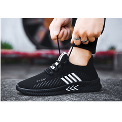 TAOTAO Mens Shoes Men Sports Casual Shoes Latest Fashion Sneakers Breathable Running Shoes Man Shoes white and back 43