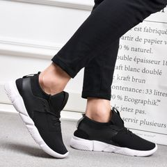 TAOTAO Men Shoes Man Breathable Casual Shoes Fashion Lightweight Sports Shoes Fashion Sneakers Mens black 43